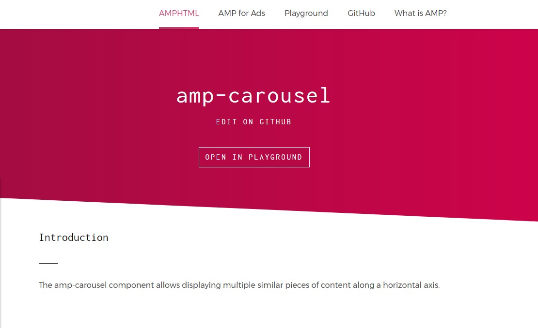 AMP Carousel, amp-carousel advanced examples and tricks