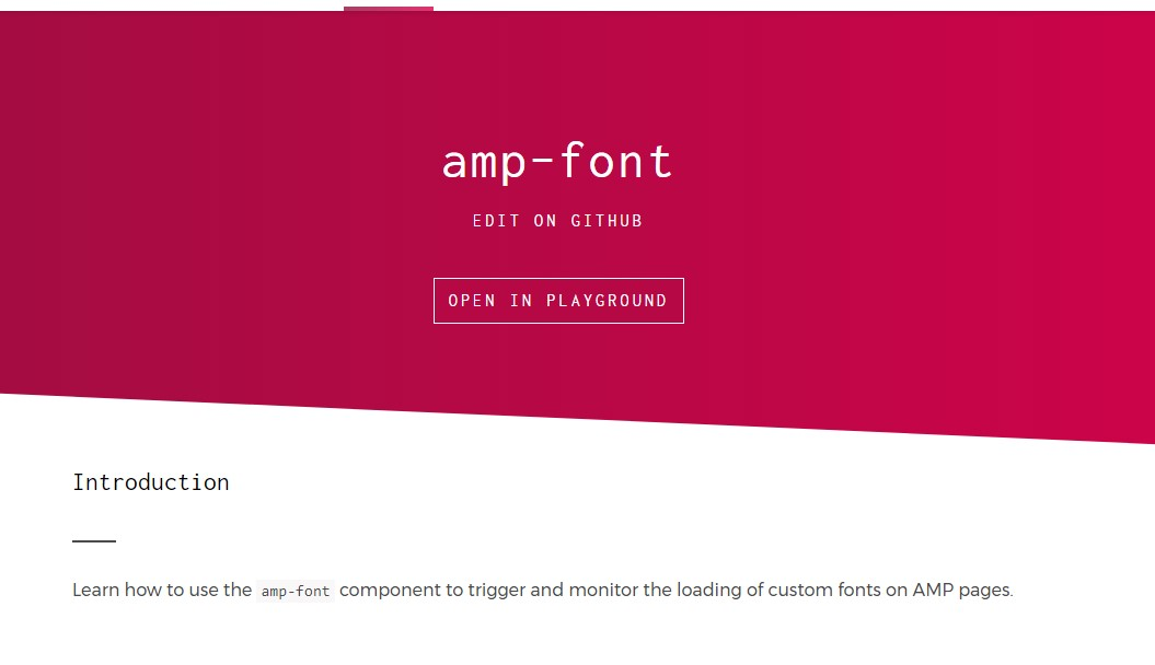 Amp-font  component by  good example