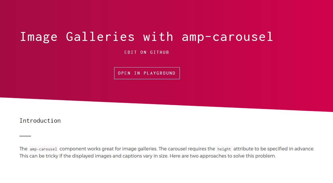 Some examples of AMP  pic galleries